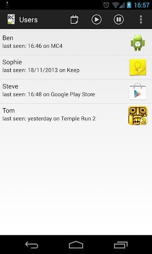 Screen Time Remote Control app screenshot