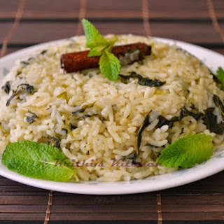 Mint Coriander Pulao | Indian Rice Recipes