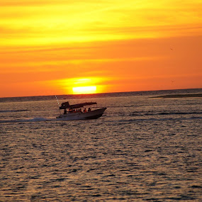 Fisherman on the way for the evening catch by Kaushik Nandy - Landscapes Sunsets & Sunrises (  )
