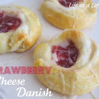 Strawberry Cheese Danish.