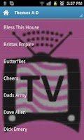 Screenshot of TV Themes of UK comedy shows