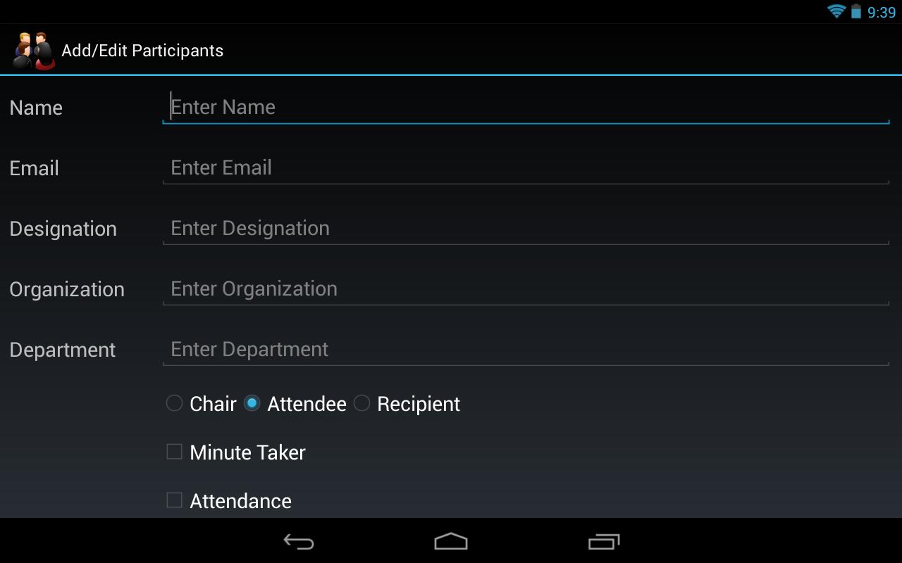 Meeting Minutes Trial - screenshot