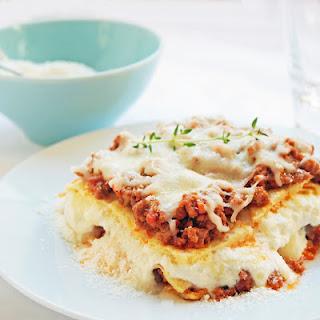 Gluten Free Lasagna w/ Garbanzo Bean Crepes.