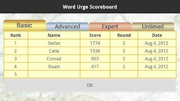 Screenshot of Word Urge