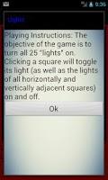 Screenshot of Lights puzzle