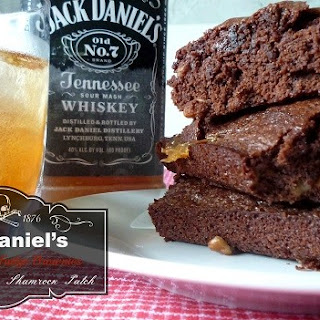 Jack Daniel's Pecan Caramel Fudge Brownies.