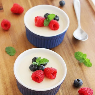 Lemon Panna Cotta with Fresh Berries.