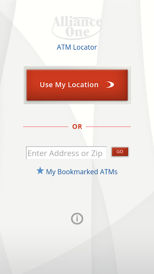 Alliance One ATM Locator- screenshot