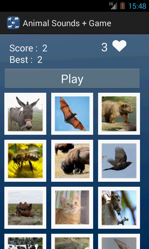 Animal Sounds + Game- screenshot