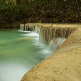 Erawan 1.1 by Christopher Harriot - Landscapes Waterscapes ( water, erawan, waterfall, forest, kanchanaburi )