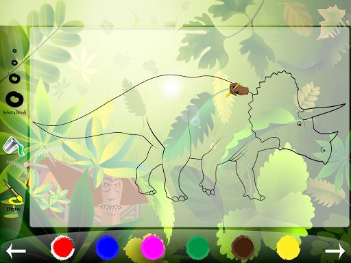 Dino Park Coloring Book