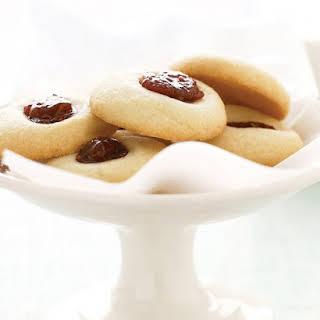 Aunt Maggie's Jam Thumbprint Cookies.