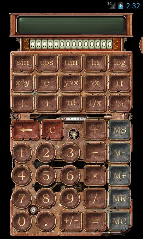 Steampunk Calculator HD - screenshot