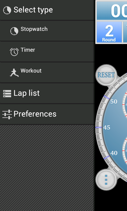 Analog Interval Stopwatch Pro - screenshot