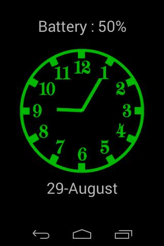 Analog night clock donate