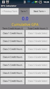 GPA Calculator - screenshot thumbnail