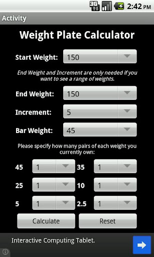 Weight Plate Calculator