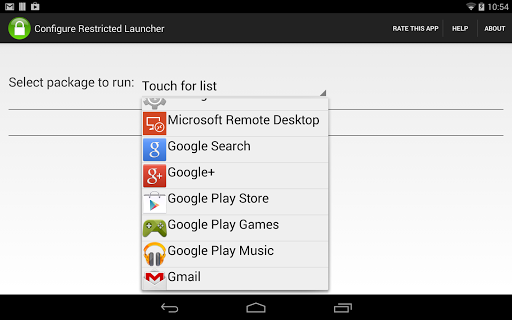 Restricted Launcher