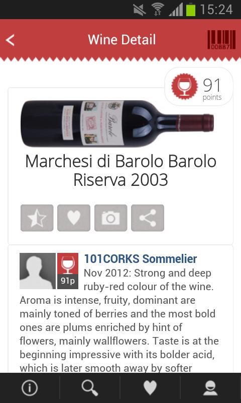 101CORKS, wine cellar&ratings - screenshot