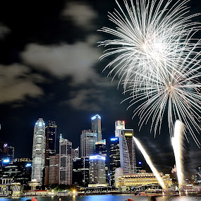 firework by Supriadi Lee - City,  Street & Park  Night ( city, night,  )