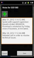 Screenshot of Call Log:  CallTags