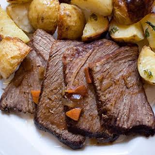 Slow-Cooked Beef Brisket.