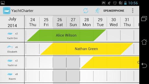 Yacht Calendar - Schedule Plan