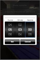 Screenshot of Yoba simple boxing timer