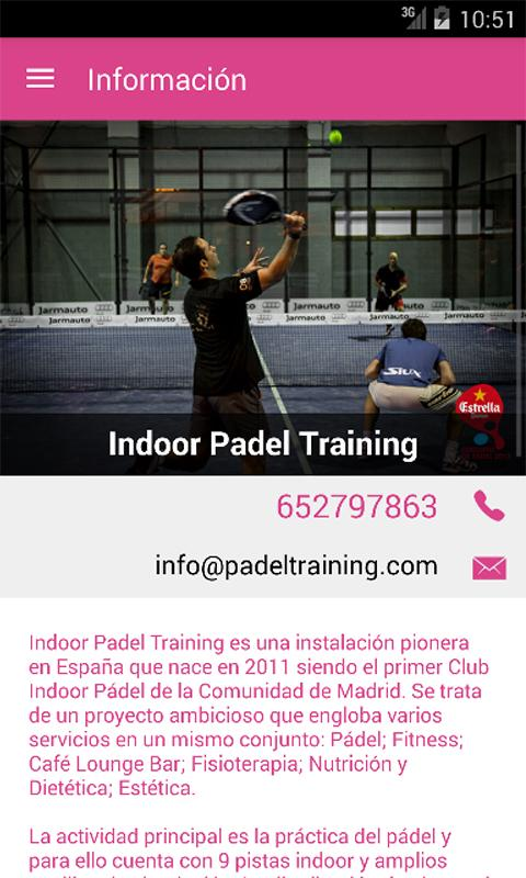 Indoor Padel Training- screenshot