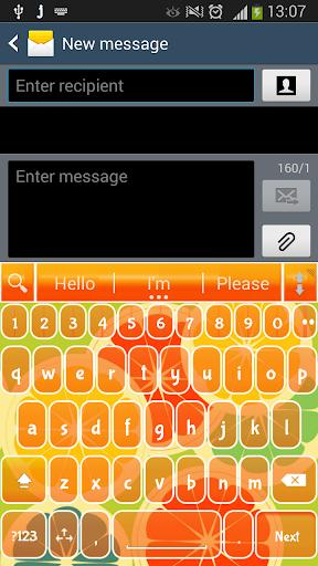 一. 我. 键入橙色