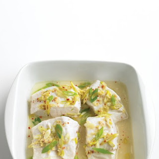 Steamed Cod with Ginger.