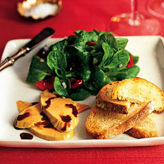 Foie Gras with Bing Cherries and Mâche.