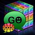 GO SMS Pro style rainbow cube icon