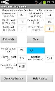 Forest Fire Danger Meter- screenshot thumbnail