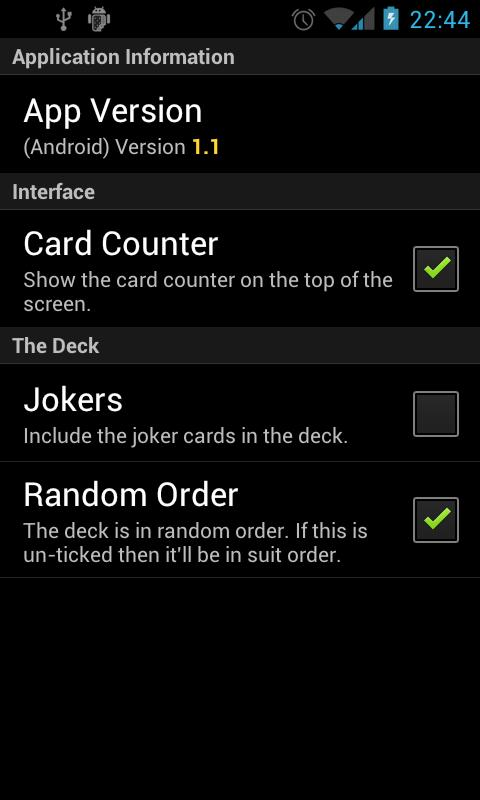 Pack of Cards - screenshot