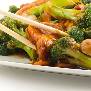 Recipe Fried Tofu with Broccoli and Mushrooms.