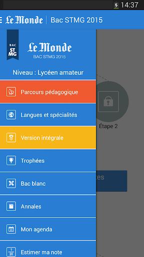Bac STMG 2015 - Le Monde