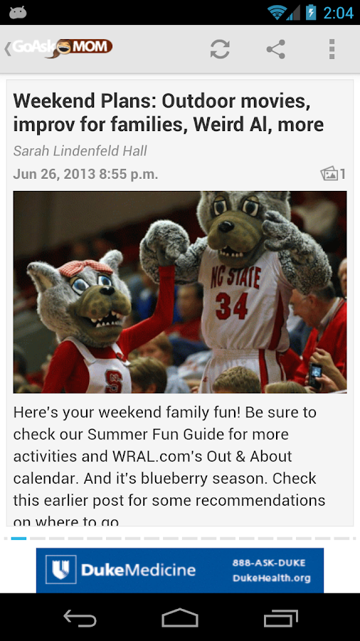 GoAskMom from WRAL.com - screenshot