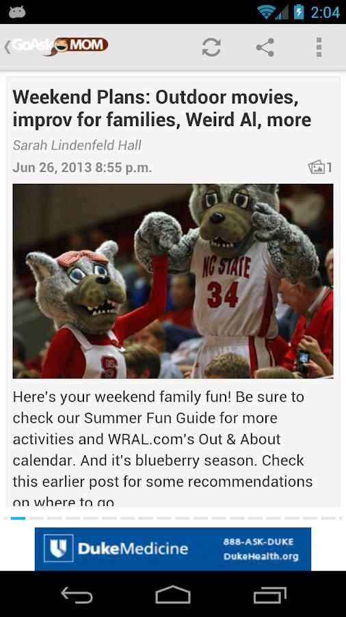 GoAskMom from WRAL.com - screenshot