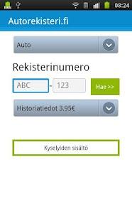 Autorekisteri.fi - Kenen auto?- screenshot thumbnail