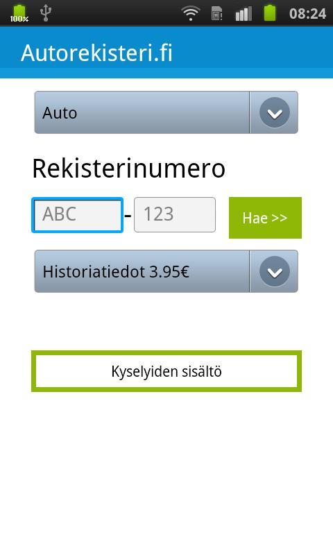 Autorekisteri.fi - Kenen auto?- screenshot