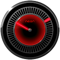 NEON RED Laser Clock Widget icon