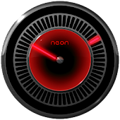 NEON RED Laser Clock Widget