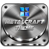 Next Launcher Theme Metalcraft