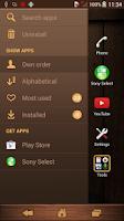 Screenshot of Xperia™ theme - Woody