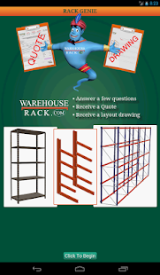 Warehouse Rack Quote Genie- screenshot thumbnail