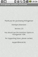 Screenshot of VCO AutoSync
