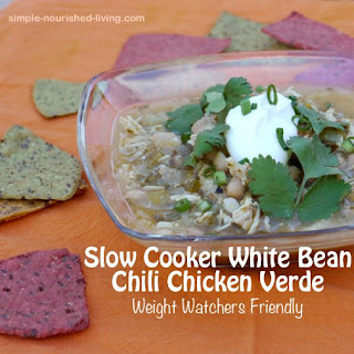 Slow Cooker White Bean Chicken Chili Verde.