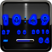 blue glow digital clock