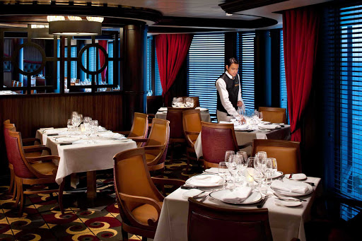 Rhapsody-of-the-Seas-Chops-Grille - The upscale Chops Grille steakhouse is one of the most popular restaurants aboard Rhapsody of the Seas. Reservations are highly recommended.